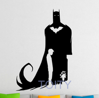 Batman Comics Wall Decal Vinyl Stickers Comics Hero Home Interior Design Art Murals Bedroom Decor H83cm