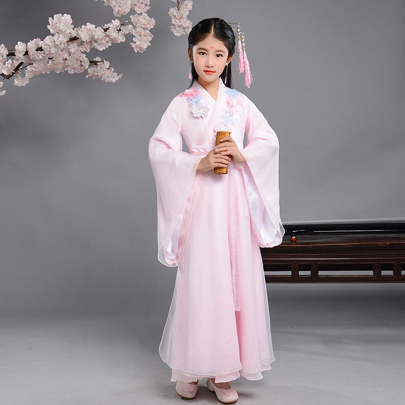 Children clothes girl 6 to 7 years fairy hanfu tang dance costume ancient chinese style princess dress for little girls kids