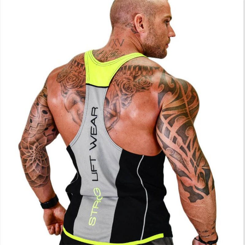 HETUAF New Men   Tank     top   Gyms Workout Fitness Bodybuilding sleeveless shirt Male Cotton clothing Casual Singlet vest Undershirt