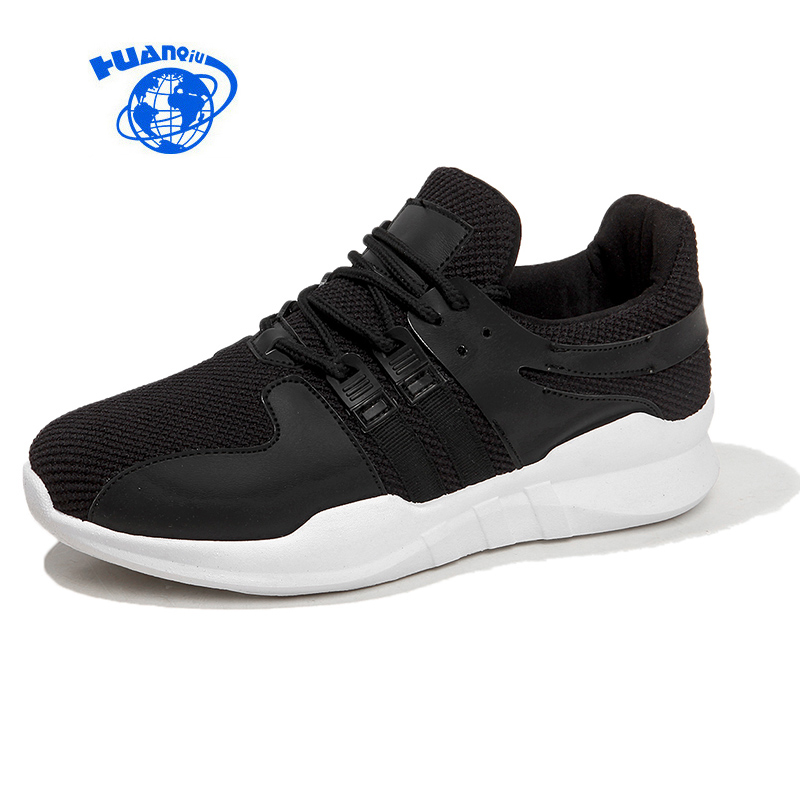 HUANQIU Women Sneakers Flats Air Mesh Cloth Lace Up Female Casual Shoes Zapatillas Deportivas Mujer Black White Shoes Size 35-40 huanqiu women mesh shoes casual lace up summer ladies flats white shoes breathable candy colors woman shoes 6e04