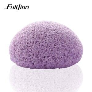 Image 5 - Fulljion 6 renkler doğal Konjac Konnyaku kozmetik puf yüz sünger yüz temizleyici yıkama yüz bakımı yüz toz makyaj araçları