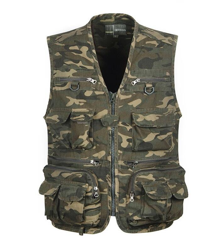 ФОТО Summer Autumn Fly Fishing Vest Outdoor Camouflage Fishing Vest Men's Jackets Camping Coats Photography Vests Waistcoat