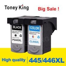 Toney Rei PG445 Cartucho De Tinta PG 445 CL 446 Para Canon pixma MX494 CL446 MG2440 MG2540 MG2940 MG2942 MG2944 IP2840 impressora