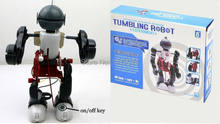 3 in 1 Tumbling Robot Assembly Toy Educational DIY Robotics Kits DIY Electronic Robot without original box(China)