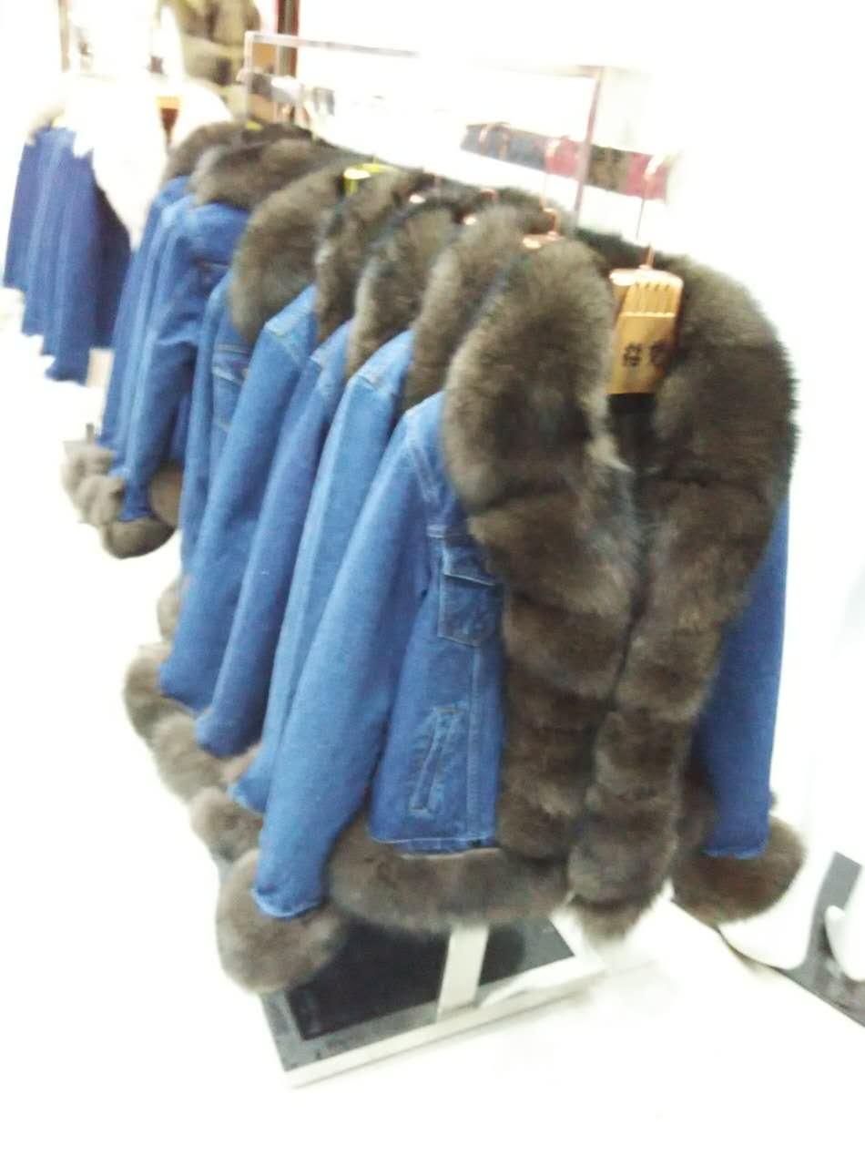 Jin li di ang 2017 naturel renard manteau de fourrure, veste, denim veste Parkas big fox col de fourrure d'hiver veste, nouveau mode réel fourrure de renard
