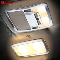 Bbincar ABS Chrome Matte Car Inner Front Rear Reading Light Trim Interior Accessories 3PCS For Toyota