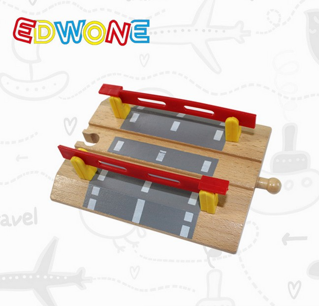 2018 Hot Railroad Crossing Intersection Thomas Wooden Train Slot Track Railway Accessories Original Toy For Kids Gifts-Tomasin