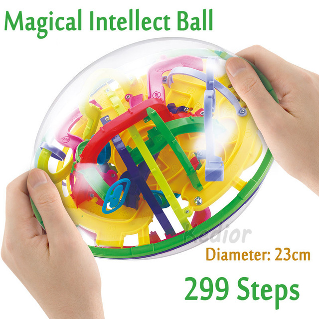 299 Level 3D Magic Maze Ball Magical Intellect Ball Children's Educational IQ Balance toy game Christmas New year Gift