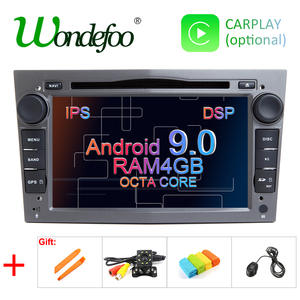 DSP 8 CORE 4G Android 9.0 2 DIN CAR GPS for opel Vauxhall Astra H G J Vectra Antara