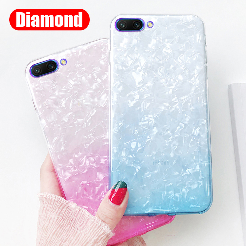 Xinyada Soft Silicone TPU Conch Shockproof Case For huawei honor 10 9 Lite honor10 V10 7X Transparent Clear Cover Shell