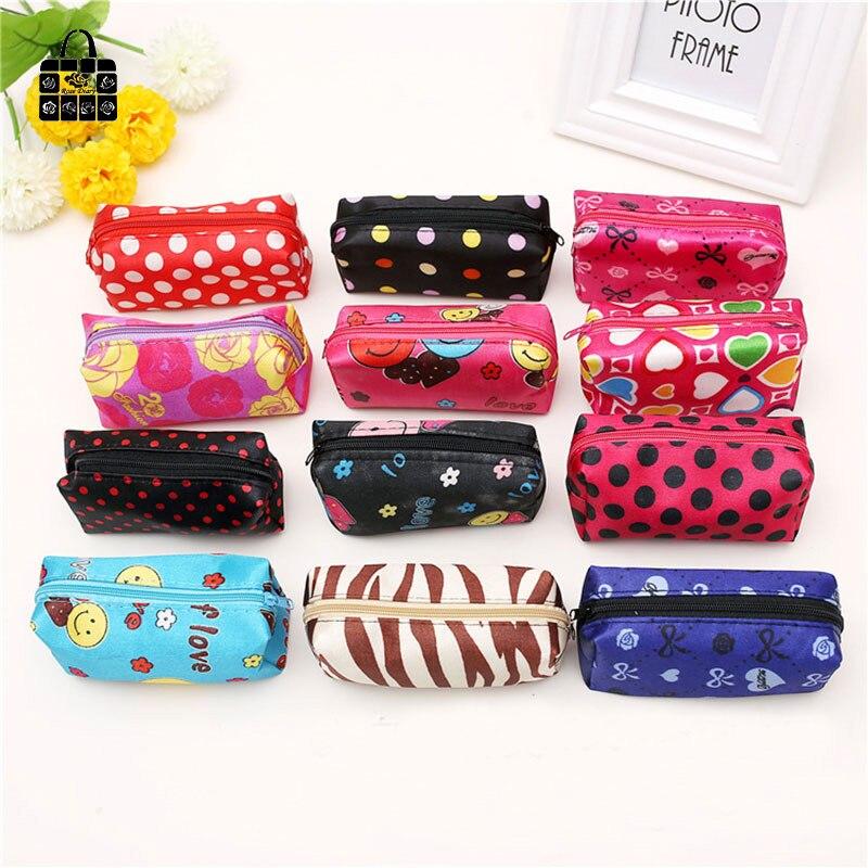 ROSEDIARY lovely small Dot women Zero wallet child zipper bag girl boy purse, lady kids coin wallets Case Free shipping