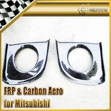 Эпр стайлинга автомобилей для mitsubishi evolution evo 10 x углеродного волокна переднего бампера противотуманные фары крышка автомобильные аксессуары