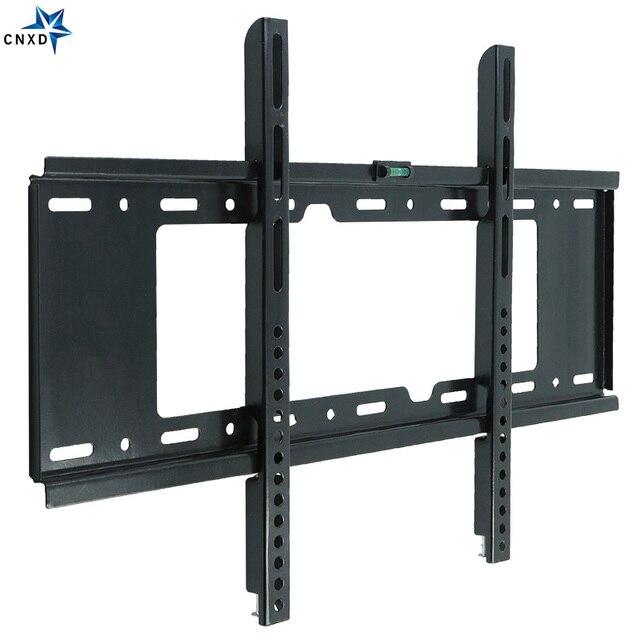 2019 العالمي رف لتثبيت التليفزيون على الحائط ثابتة شقة شاشة تلفزيون مسطحة إطار ل 32 إلى 70 مؤشر LED LCD بالبوصة مراقب المسطحة معدل الحمولة 75 كجم