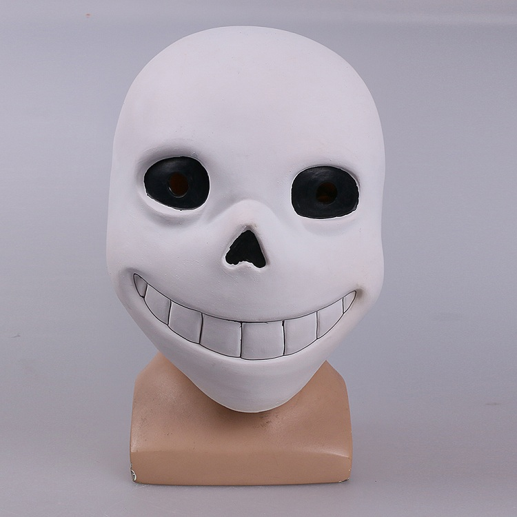 Full head Undertale Sans Latex Masks Cosplay Funny White Helmets Shores Of Halloween Party Fancy Christmas Balls (11)
