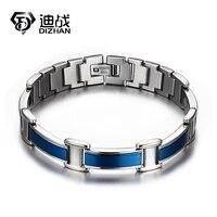 Gezondheid Magneet Care Rvs Armband Mannen Voor Vriendschap Gift Magnetische Negatieve Germanium Infrarood Armbanden Blauw Bangles