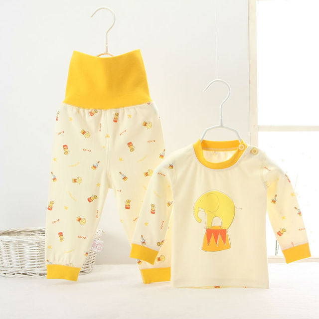 Baby thermal underwear Baby's clothes sets high quality cotton wear for boy gril high waist pants can open crotch