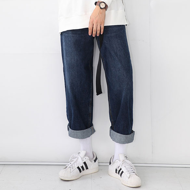 2015 new Autumn England style simple wild cuffs Wide leg jeans men ...