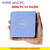 VOYO Mini PC V1 N4200 8GB DDR3L RAM 32GB EMMC 128GB SSD Windows 10 Pocket PC