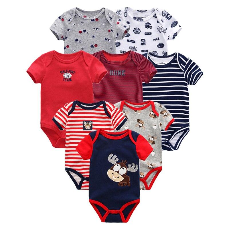 8PCS Baby Boy Summer Clothes Baby Romper Newborn Jumpsuit roupa infantil Clothing Set