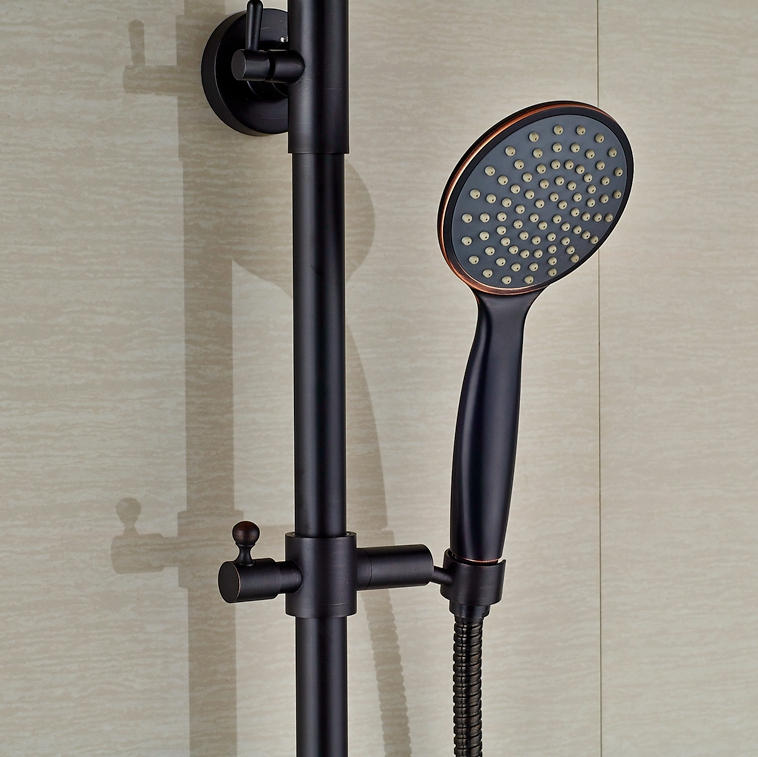 Rainfall Shower Head With Handheld Oil Rubbed Bronze Shower Faucet ...