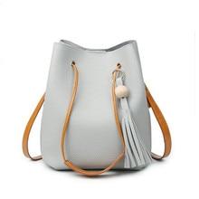 Tassel Handbag for Women Famous Brand Designer Bag Ladies Purse Women Bucket Bag High Quality Korean Messenger Bags Bolsas