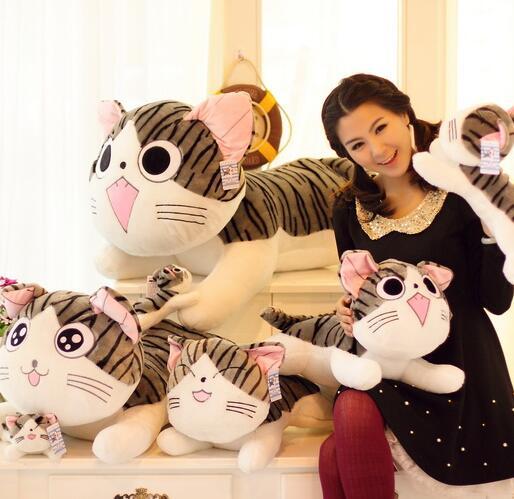 Kawaii chi dulce hogar queso gato almohada juguetes de peluche gato dulce gato de peluche almohada para leaning