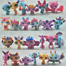 24pcs/lot LPS Cartoon Vinyl Toy Dolls Pet Shop Action Figures Unicorn Kitty Mini Gifts Birthday Toys for Children Animals Sets(China)
