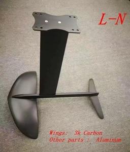 Image 2 - Largest L hydrofoil Pure 3K Carbon Wings+Aluminum fuselage mast plate  Hydrofoil Foils for SUP Surf Foil