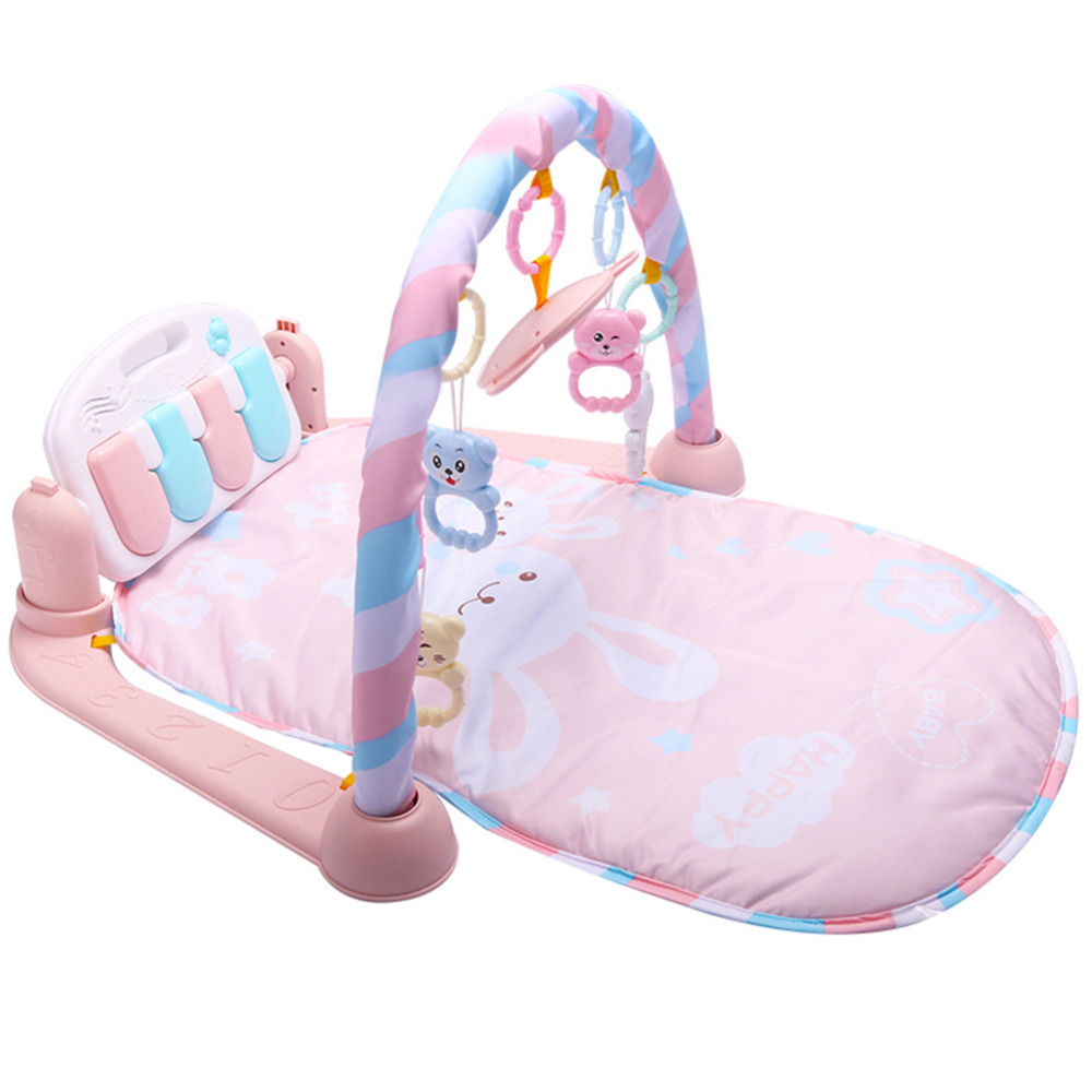 Nouveau bébé jouer tapis Fitness musculation cadre pédale Piano musique tapis couverture activité Gym coup de pied jouer poser assis jouet pour les nouveau-nés - 2