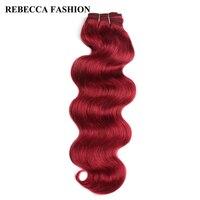 Rebecca Brazilian Body Wave Non Remy Hair 1pc For Salon 8 Colors Pre Colored Black Brown