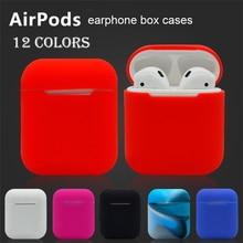 Airpods Bluetooth Fones De Ouvido de Silicone Macio Caso Protetor Manga Transparente Ultra Fina Capa À Prova de Choque Bolsa Para AppleEarphone