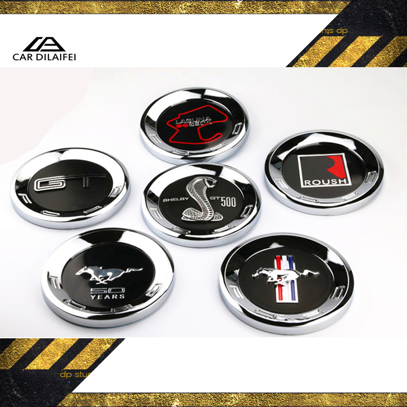 GT 50th Years Rear Emblem Sticker 150MM For Mustang GT 50 Anniversary Chrome ABS Logo Car Trunk Badge Decal