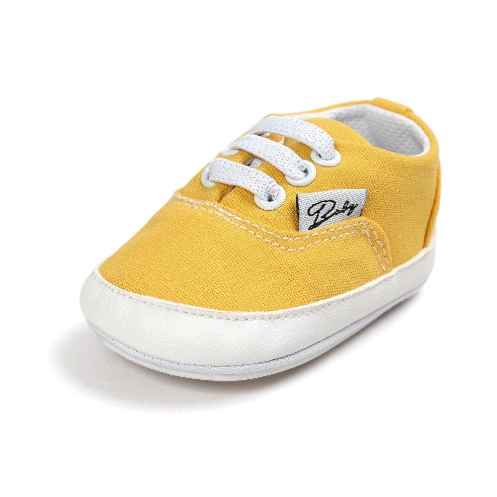 Baby Baby Babyschoenen Mode Ondiepe Canvas Mocassins Lace-Up Sneakers - Baby schoentjes - Foto 6