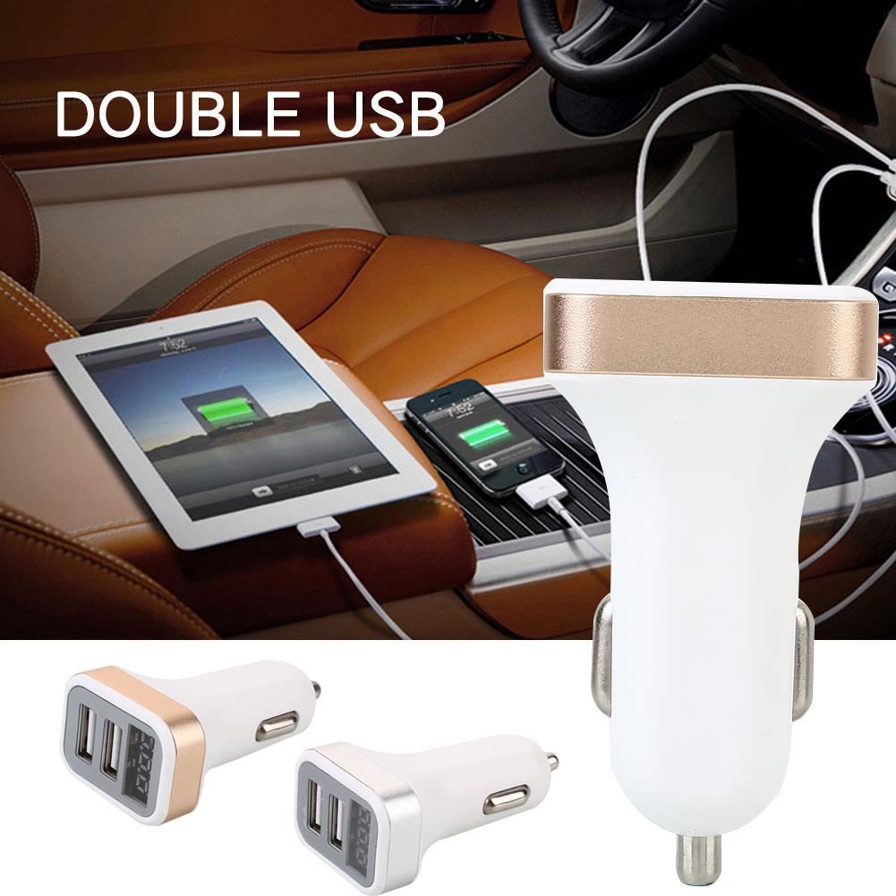 Автомобильный прикуриватель с разъемом power DC12-24V Dual USB с экраном дисплея