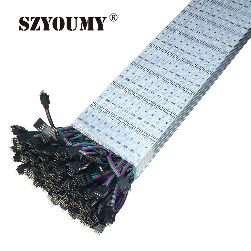 SZYOUMY RGB LED Bar Lights Hard Strip 100CM DC12V 60 leds SMD 5050 RGB LED Hard