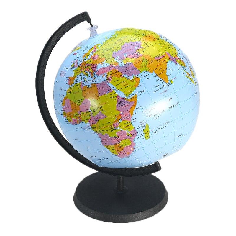 Aufblasbare Welt Globus Erde Mit Halter 30 Cm Lehre Geographie Karte Strand Ball Kinder Pädagogisches Spielzeug Miniaturen Büro Gadgets