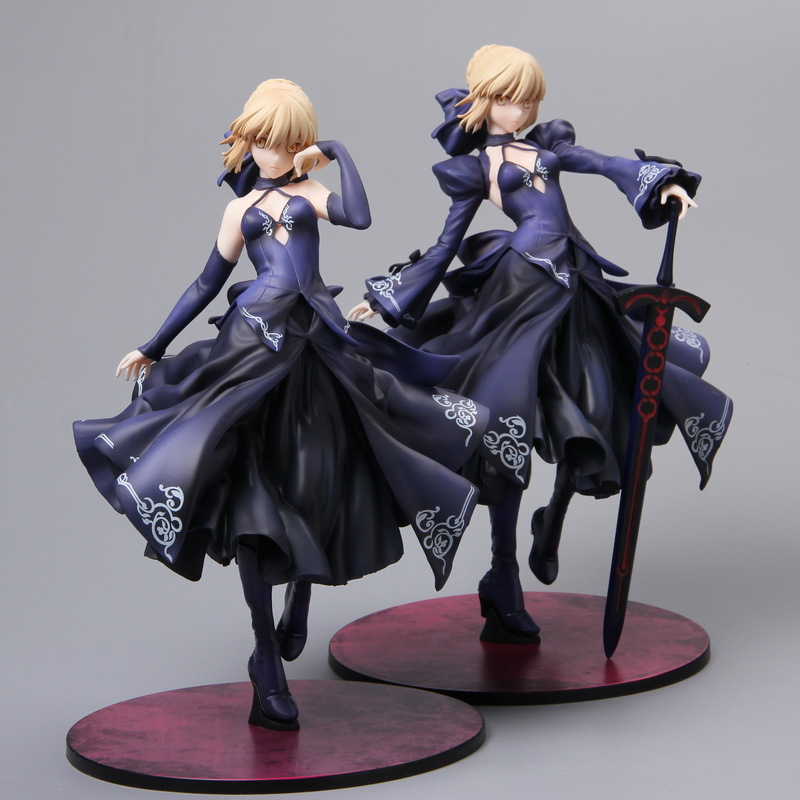 3color 23cm Fate Grand Order Saber Alter Dress Ver <font><b>Sexy</b></font> PVC Model Collection Cosplay Decoration <font><b>Anime</b></font> Action <font><b>Figure</b></font> Toy <font><b>Doll</b></font> 9'' image