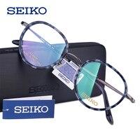 697f41e65dbc3a SEIKO Glass Frame Women 2019 Vintage Round Lens Myopia Optical Eyeglasses W  Out Diopters Progressive Multifocal