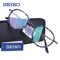 SEIKO Glass Frame Women 2019 Vintage Round Lens Myopia Optical Eyeglasses w/out Diopters Progressive Multifocal Spectacles