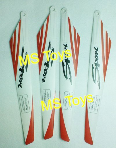 blades for 125cm RC Helicopter spare part Accessory FXD A68690 -  01 Red Main wings Rotor 4pcs free shipping