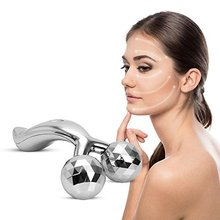 Slimming Face Body Roller Massager,3d Reface Massager Y-shape Sliver Mask Spa Free Shipping