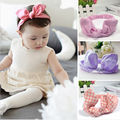 1 pc Cute Baby Toddler Girl Kids Elastic Hairband Turban Knot Rabbit Ear Headband hair accessories 11 colors