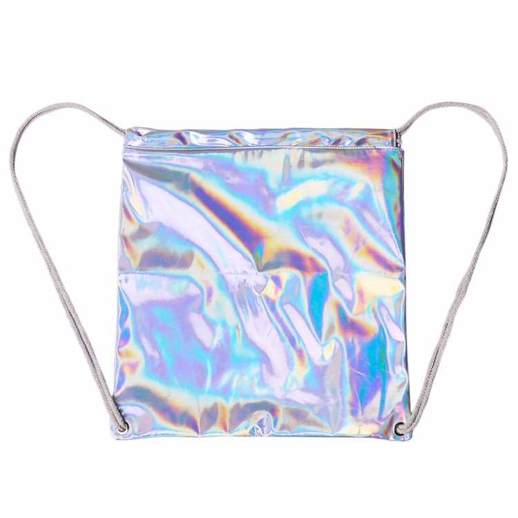59c6b7fc1 Women Hologram Backpack Silver Drawstring School Bag For Teenagers Student  Women's Laser Holographic Bag Sack package Bag-in Backpacks from Luggage &  Bags ...