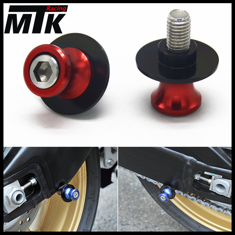 MTKRACING 6mm Motorcycle CNC Swingarm Slider Spools stand screws For Yamaha YZF R1 R6 R6S MT09 MT-09 FZ6 FZ8 FZ1 XJR 1300 universal nfc smart tags stickers ntag203 for samsung note3 galaxy s4 s5 nokia lumia920 nexus4 10 htc sony lg