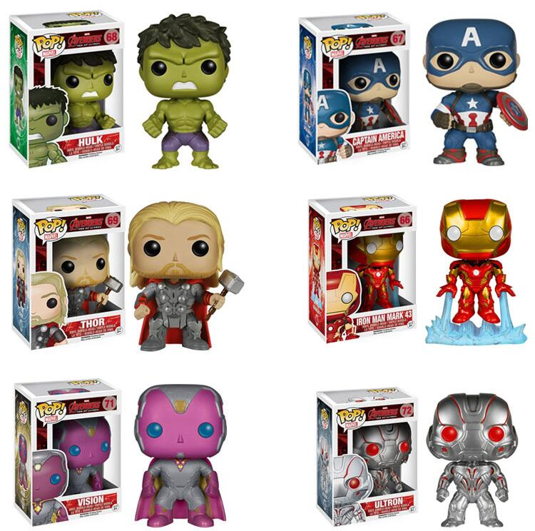 2019 Funko POP Avengers 3 Iron Man Galaxy Anime Movie 2019 Collection Figure Model PVC Kids Boy Toys