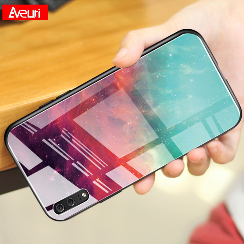 Colorful Tempered Glass Phone Case For Huawei P30 P10 P20 Lite Mate 10 20 Pro Nova