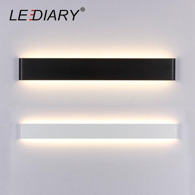LEDIARY Dec Wall Lamp 24/41/61/72/91/111cm Long LED Mirror Lamp for Restroom/Bathroom/Bedroom/Living Room Wall Lights 85-265V AC
