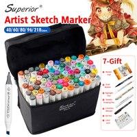 Bgln Artist Double Headed Marker Set 40 60 80 96 218 Design Mark Pen Animation Design