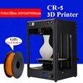 2017 nueva Alta Calidad extrusora creality CR-5 3D impresora envío Pla filamentos de alta precisión de metal comercial fuselaje 3D impresora