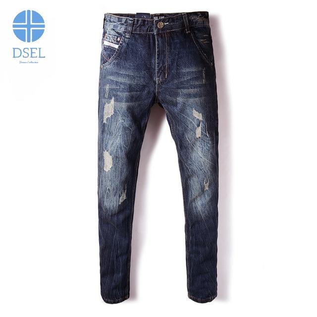 Dunkle zerrissene jeans herren